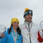 Sanna Tidstrand & Klaus Schrotshammer - speedski WC 2012 winners